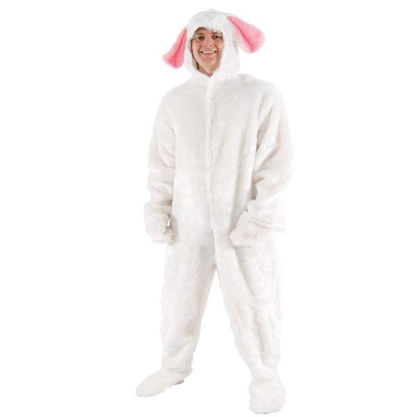 Adults Mens Rabbit Animal Fancy Dress Up Costume